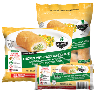 chicken broccoli and cheese packaging