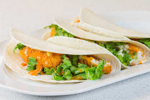 Buffalo Chicken Soft Tacos recipe