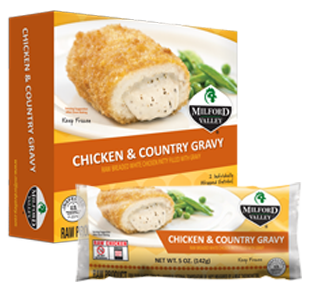 chicken and country gravy packaging